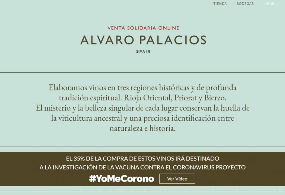Alvaro Palacios has launched a new sales site