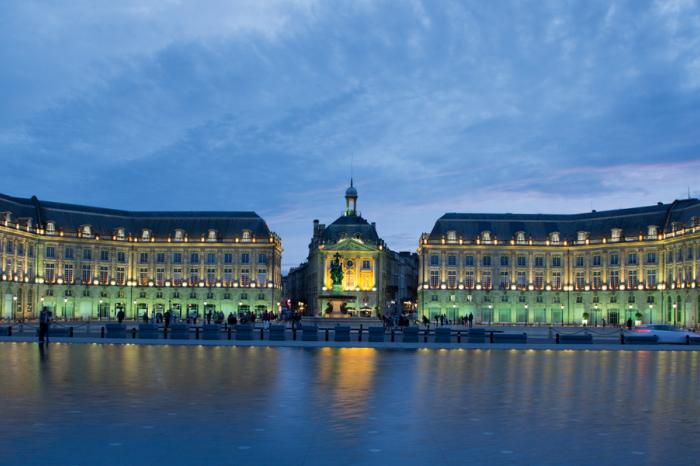 Bordeaux's 'water mirror' is its most photographed site.