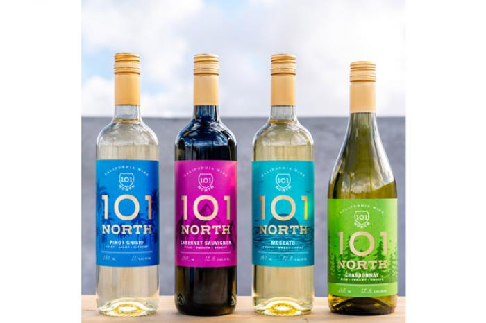 101 North is the new wine brand of the two beverage giants Anheuser-Busch and The Wine Group.