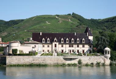 The restored Château d`Ampuis is now a French national monument, as well as Guigal`s headquarters