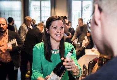 Andrea Mullineux pours at the Top 100 event