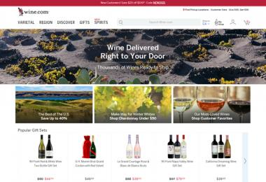 Wine.com benefits from a growing online business